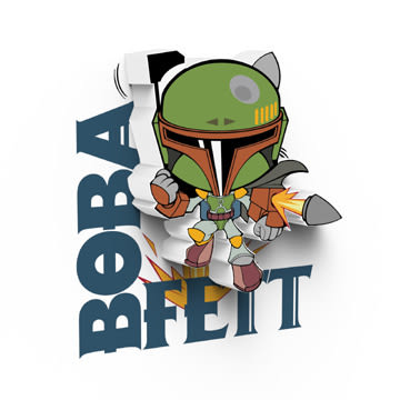 萬聖節~星際大戰七部曲 原力覺醒 3D造型迷你夜燈-Bobba Fett -  (加拿大原裝進口)/3D LIGHT FX出品