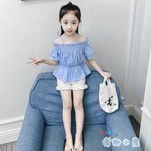 女童夏裝套裝2019新款時尚韓版兒童短袖兩件套女孩童裝【奇趣小屋】