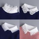 假領子女百搭假衣領毛衣襯衣裝飾領內搭衣白色鏤空蕾絲雪紡娃娃領
