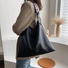 手提包 時尚大容量軟面休閒單肩包高級感女包2021新款潮網紅手提托特大包