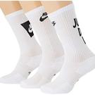 Nike 男女兒童3包組小腿中段運動襪(白色)