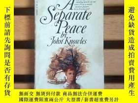 二手書博民逛書店英文原版:A罕見Separate Peace 一個人的和平 獨自和解,約翰.諾爾斯Y7688 John Kno