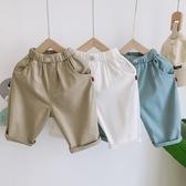 兒童寬鬆韓版短款年夏季新品男童純棉彈力中褲寶寶包膝蓋褲子