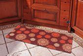 彩色煙花廚房地墊腳墊 長條門墊臥室床邊地毯歐式橡膠防滑墊