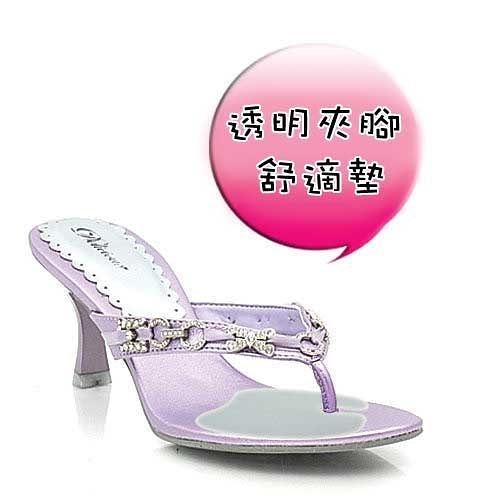 Qmishop 透明夾腳型舒適墊 女鞋適用、超薄型 一雙入【QS104】