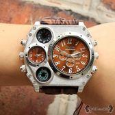 手錶 雙時區進口機芯石英錶學生錶潮流炫酷個性潮男大錶盤 - 歐美韓