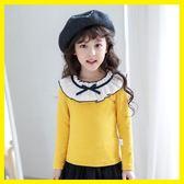 雙12購物節   女童長袖T恤2018秋裝新款洋氣兒童純棉打底衫寶寶上衣中大童體恤  mandyc衣間