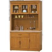 櫥櫃 餐櫃 HE-381-1 潘朵拉香檜4.2尺石面碗碟櫃【大眾家居舘】