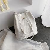 手提包購物袋鏤空沙灘包仙女刺繡單肩包包手袋仙女包 艾莎