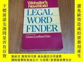 二手書博民逛書店WEBSTER S罕見NEW WORLD LEGAL WORD