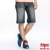 BOBSON 男款繡花牛仔短褲(藍165-53)