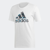 Adidas MH BOS Graphic [DV3085] 男 圓領 短袖 運動 休閒 舒適 棉T 愛迪達 白