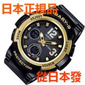 免運費 日本正規貨 CASIO Baby-G 太陽能無線電鐘 女士手錶 絕版限量款 BGA-2100-1BJF