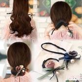 盤髮器 丸子頭花朵盤髮器韓國懶人髮帶頭飾造型器百變蓬松花苞頭扎頭髮飾