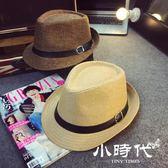 遮陽帽 正韓戶外遮陽草帽情侶沙灘太陽帽英倫男女防曬爵士禮帽子潮天