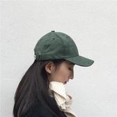 【葉】復古墨綠深草綠純色薄麂皮棒球帽文藝男女鴨舌帽子百搭春夏