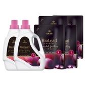 《台塑生醫》BioLead經典香氛洗衣精 紅粉佳人*(2瓶+4包)