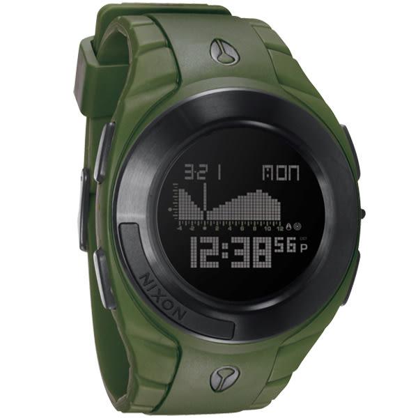 NIXON The OUTSIDER TIDE 極限重裝衝浪運動腕錶(墨綠)