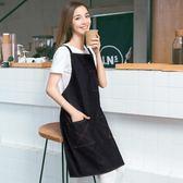 圍裙圍裙定制防水防油廚房男女牛仔圍裙創意正韓時尚棉質烘焙餐廳(中秋烤肉鉅惠)