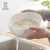 懶角落 淘米瀝水籃洗米篩淘米盆家用塑料水果籃洗菜籃洗菜盆66307