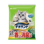 日本Unicharm消臭大師 尿尿後消臭貓砂-森林香5L x 4入