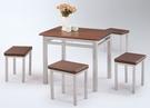 HY-Y307-7  單人板凳(咖啡皮面/烤銀/單台)