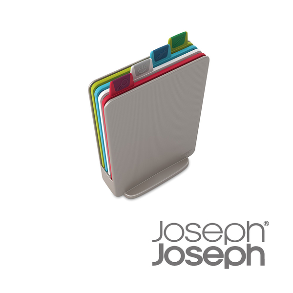 英國 Joseph Joseph 檔案夾止滑砧板-迷你銀