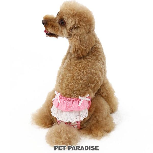 【PET PARADISE 寵物精品】Pretty Boutique 草莓千層透氣生理褲(4S/3S/SS/S) 寵物生理褲