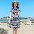 新款夏棉綢連身裙時尚