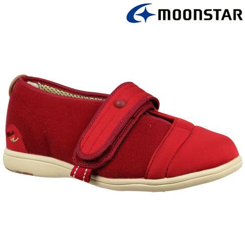 日本【MOONSTAR】Pastel 406健康照護介護鞋 - 酒紅(4E超寬楦)