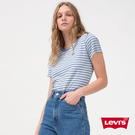 Levis 女款 條紋短袖T恤 / 迷你Logo刺繡布章