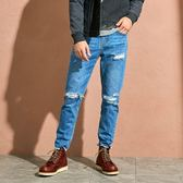 CACO-腳口鬚邊刷色褲(兩色)-男【QAR060】