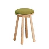 實木蘑菇小圓凳-綠色