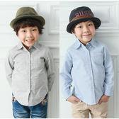 男童 韓系 經典格紋 百搭 長袖 純棉 襯衫 上衣 Augelute 50617