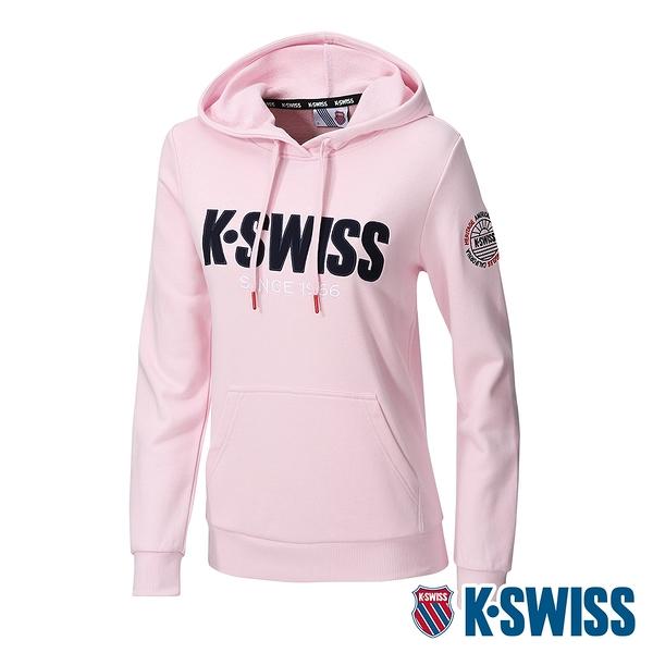 K-SWISS KS CA Hoodie連帽上衣-女-粉紅