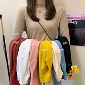 百搭半高領長袖內搭打底針織衫女薄款毛衣上衣