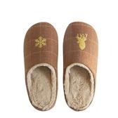 簡約麋鹿保暖拖鞋 秋冬新款 多色可選 可機洗 保暖兔毛絨 防水鞋底
