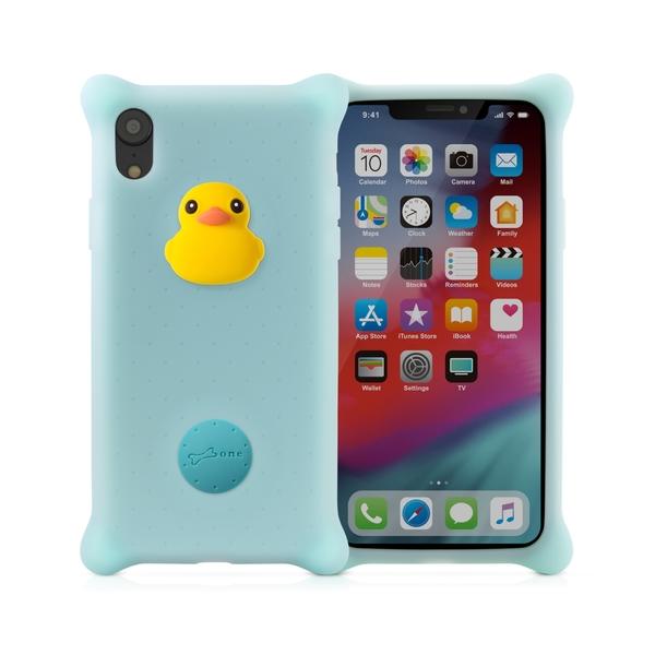 【BONE】IPhone XR 泡泡保護套-派提鴨