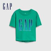 Gap 女童 Logo圓領短袖T恤 577861-寶石綠