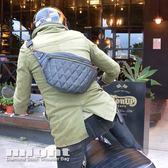 好評再一波 廣告價 might 菱格紋鑽石縫線 騎士 肩包 腰包 哈雷 凱旋 小牛皮風格 手工 PU皮革 MTW50689
