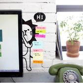 文具【PMG010】Q萌電腦螢幕造型側邊貼 留言板 便利貼版 壓克力留言板 可愛Q萌電腦螢幕貼-123ok