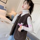馬甲背心 韓版2020新款羊羔毛絨馬甲網紅背心冬季短款外穿馬甲女士坎肩外套 3色
