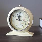 鬧鐘 歐式復古鬧鐘創意簡約學生床頭鐘靜音小座鐘台鐘金屬時尚夜光鬧鐘【快速出貨八折搶購】