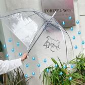 透明雨傘女直立傘長柄簡約小清新晴雨兩用可愛【聚寶屋】
