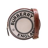 【台中米蘭站】全新品 BURBERRY Louise 帆布圓餅手拿斜背包(8027602-白)