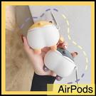 【萌萌噠】Apple AirPods pro 一二代通用 耳機套 Q萌可愛柯基屁股 全包無線耳機殼 矽膠軟殼 掛鉤 防丟