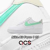 Nike 休閒鞋 Wmns Air Force 1 07 白 綠 小白鞋 AF1 女鞋 【ACS】 315115-164