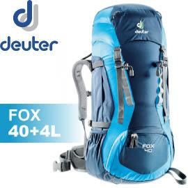 【Deuter 德國 FOX 拔熱背包40+4L《藍/深藍》】36083/背包/後背包/登山/健行/自助旅遊★滿額送
