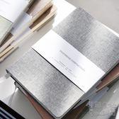 簡約純色布面手帳本 空白方格手賬本筆記本文具記事本子 JL541『美鞋公社』