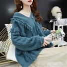毛衣 慵懶風套頭毛衣女秋季2021新款寬鬆韓版很仙的網紅百搭外穿針織衫 萊俐亞